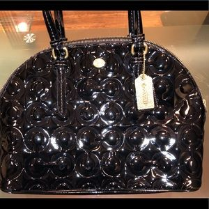 Coach Peyton Embossed Black - Patent Leather